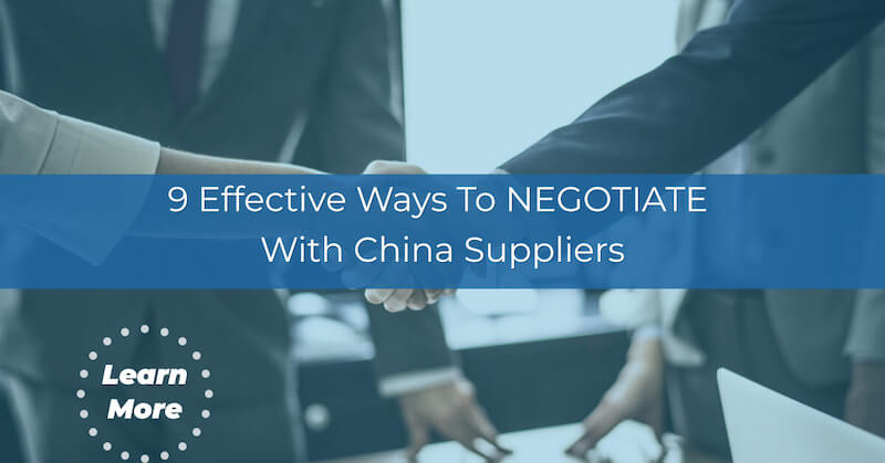 NEGOTIATE with china supplier